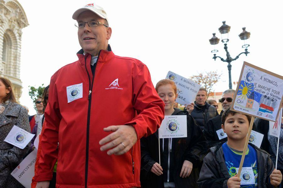 Le prince Albert II de Monaco à Monaco, le 29 novembre 2015