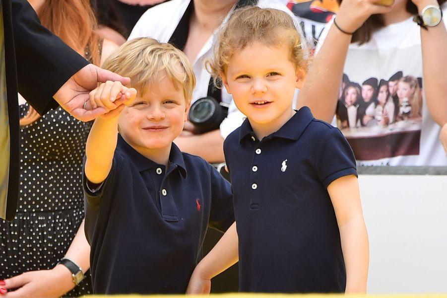 La princesse Gabriella et le prince héréditaire Jacques de Monaco à Monaco, le 16 juin 2019