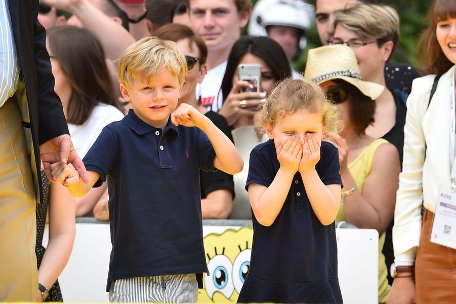 La princesse Gabriella et le prince Jacques de Monaco à Monaco, le 16 juin 2019