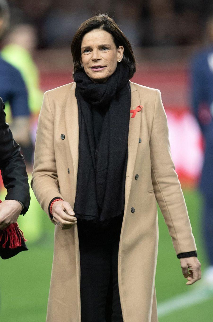 La princesse Stéphanie de Monaco à Monaco, le 15 janvier 2020