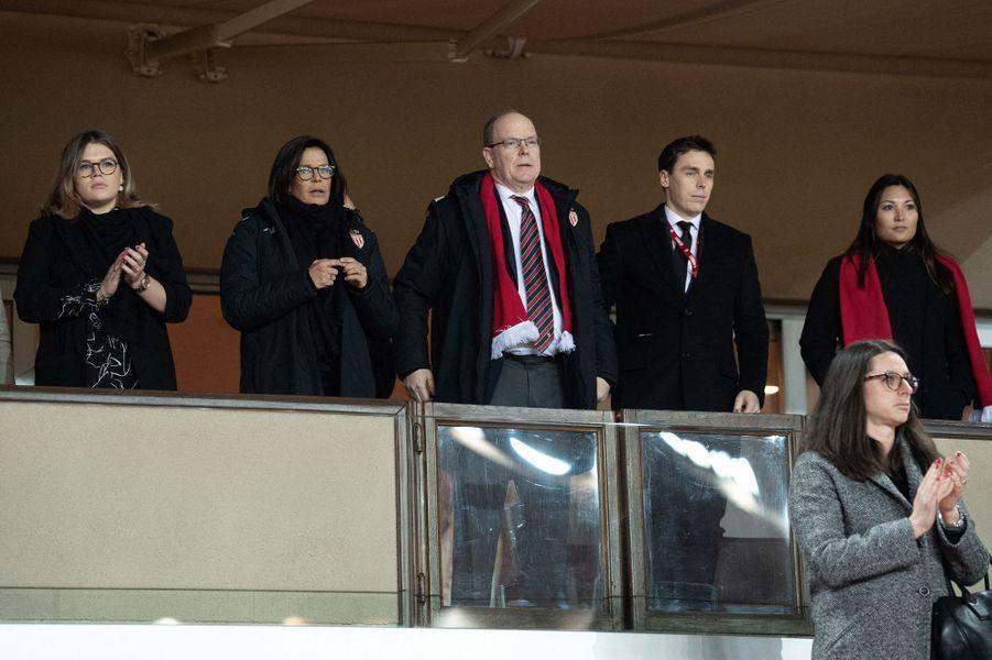La famille princière de Monaco à Monaco, le 15 janvier 2020
