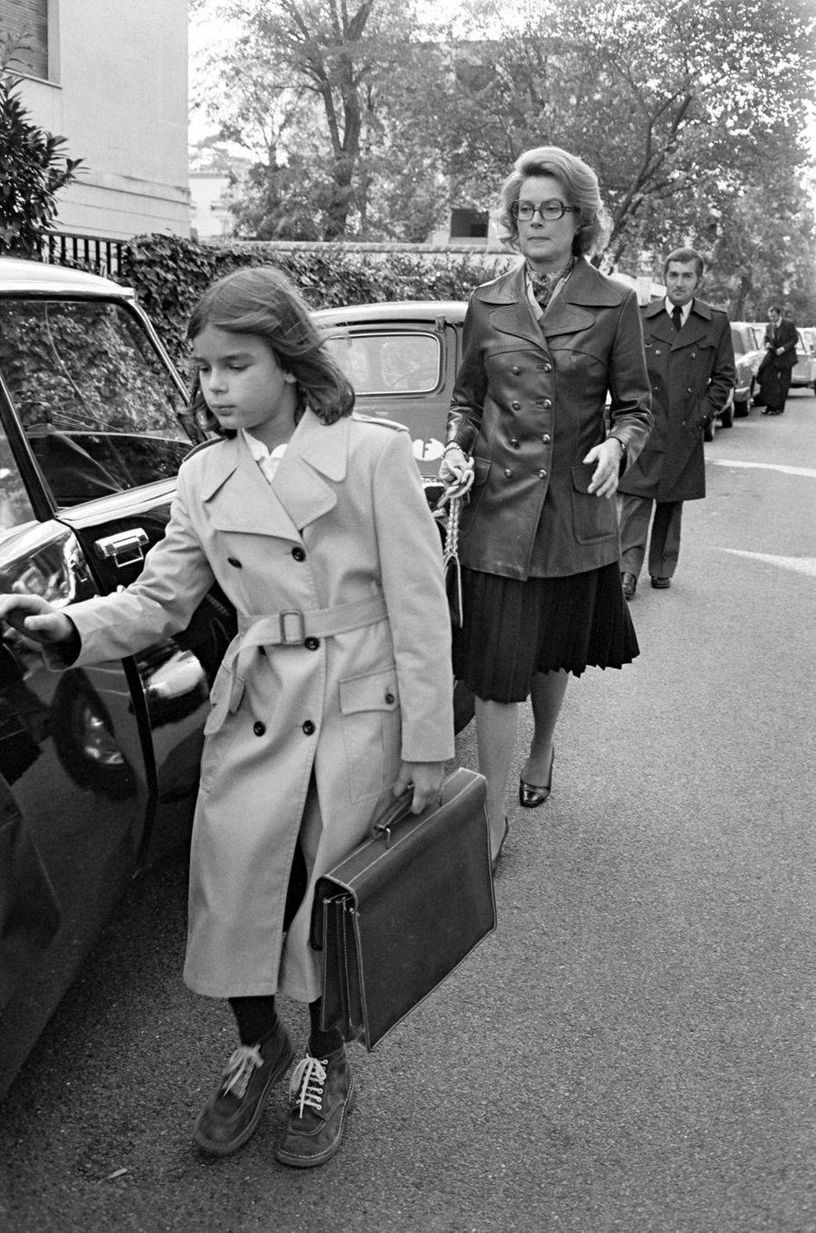 La princesse Stéphanie de Monaco en 1975