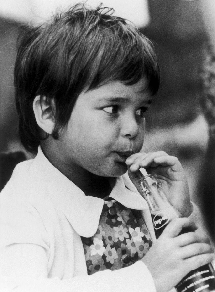 La princesse Stéphanie de Monaco, en 1970