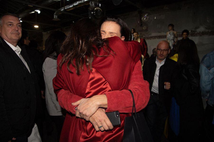 La princesse Stéphanie de Monaco avec sa fille aînée Pauline Ducruet à Paris, le 26 février 2020