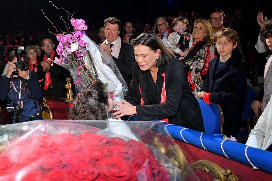 La princesse Stéphanie de Monaco à Monaco, le 1er février 2020, jour de ses 55 ans