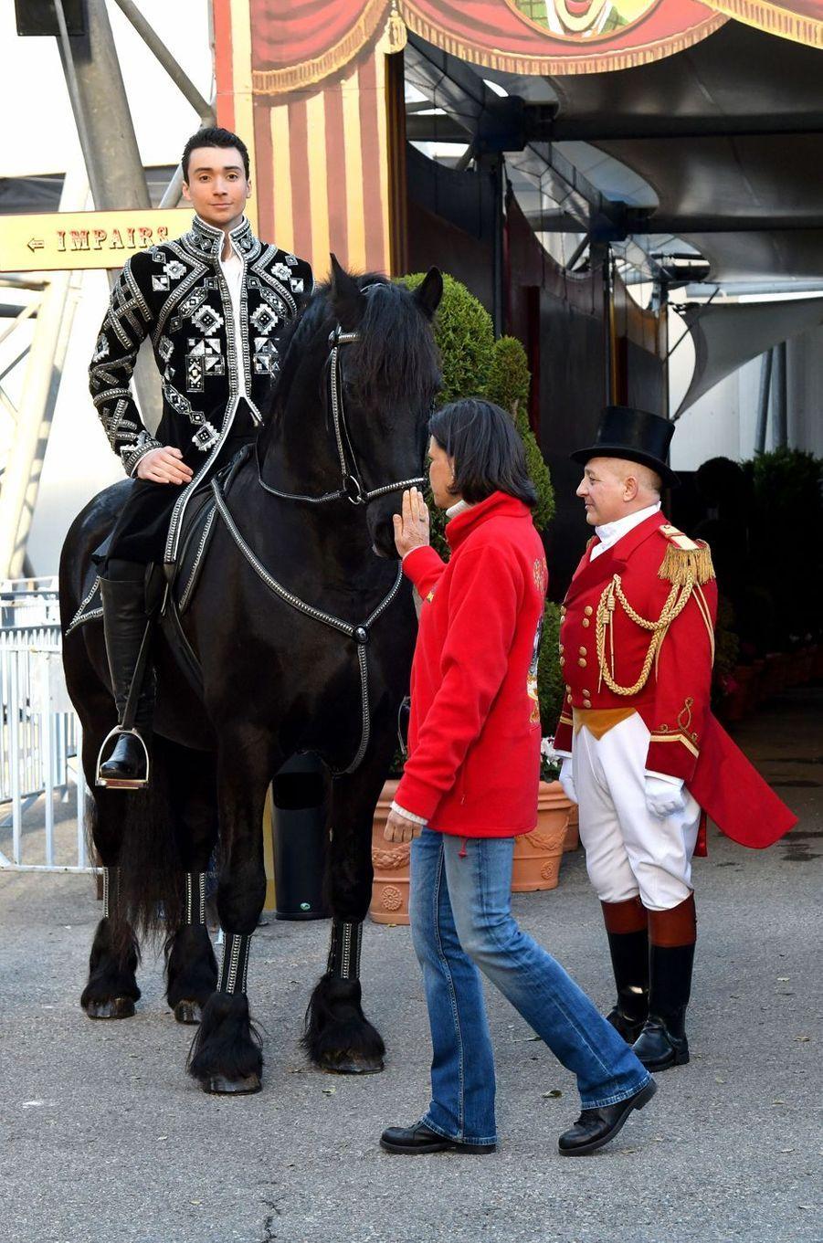 La princesse Stéphanie de Monaco à Monaco, le 14 janvier 2020