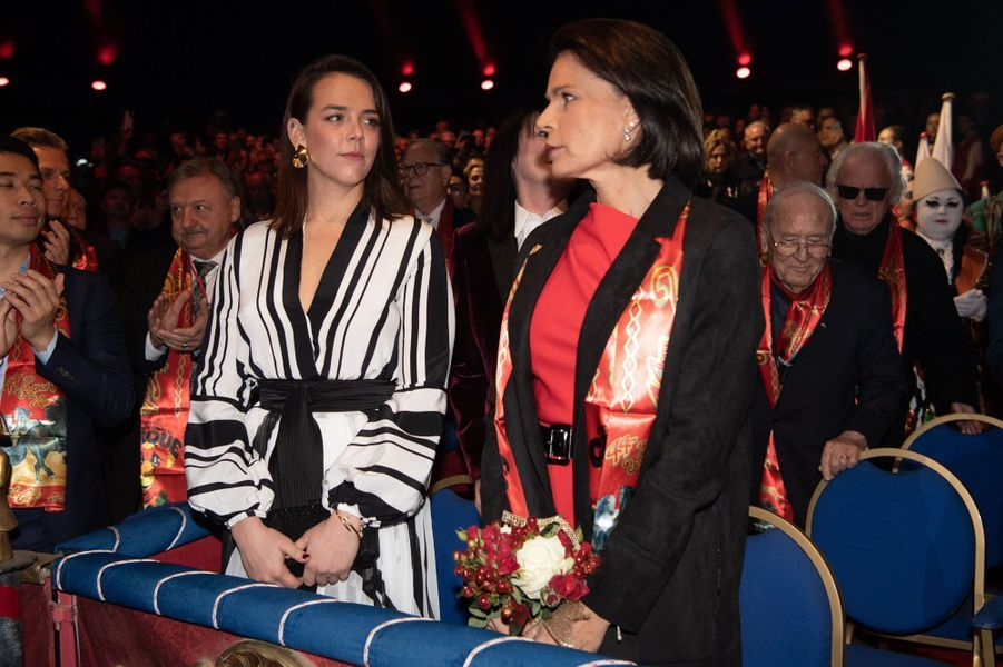 La princesse Stéphanie de Monaco avec sa fille Pauline Ducruet à Monaco, le 16 janvier 2020