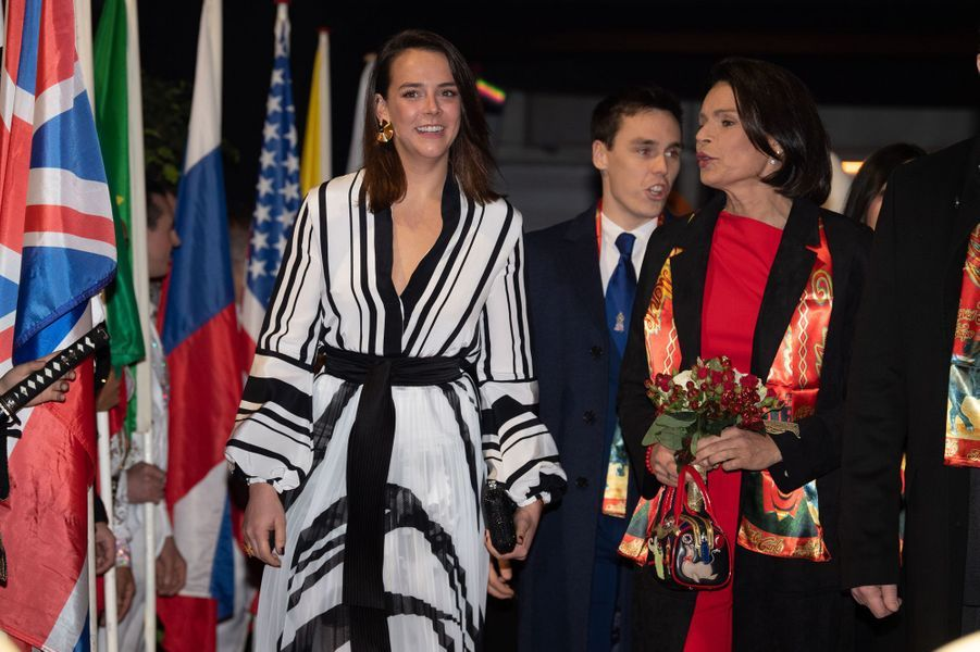 La princesse Stéphanie de Monaco et Pauline Ducruet à Monaco, le 16 janvier 2020