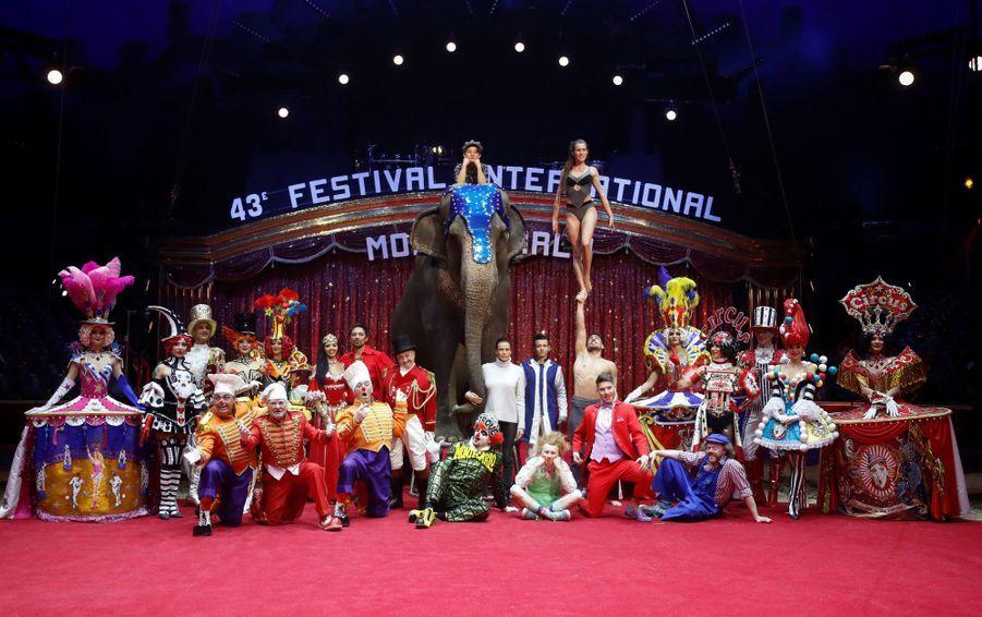 La princesse Stéphanie de Monaco lance le Festival international du cirque de Monte-Carlo à Monaco, le 15 janvier 2019