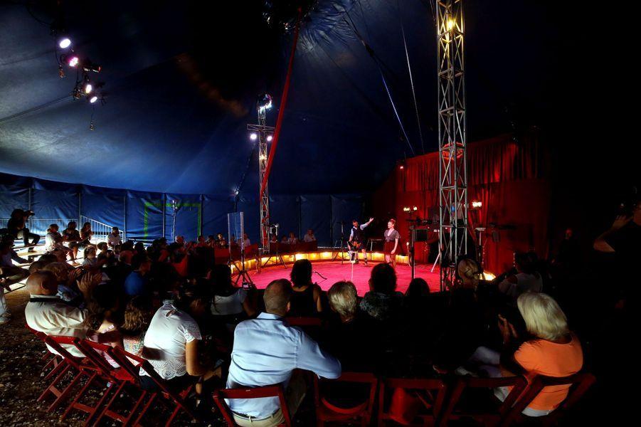 Le chapiteau du cirque Piedon à La Turbie, le 28 août 2018