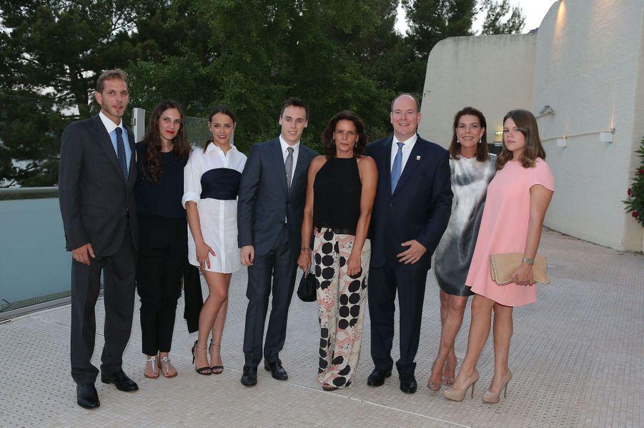Andrea Casiraghi, Tatiana Santo Domingo, Pauline Ducruet, Louis Ducruet, Stéphanie de Monaco, Albert II de Monaco, Caroline de Monaco et Camille Go...