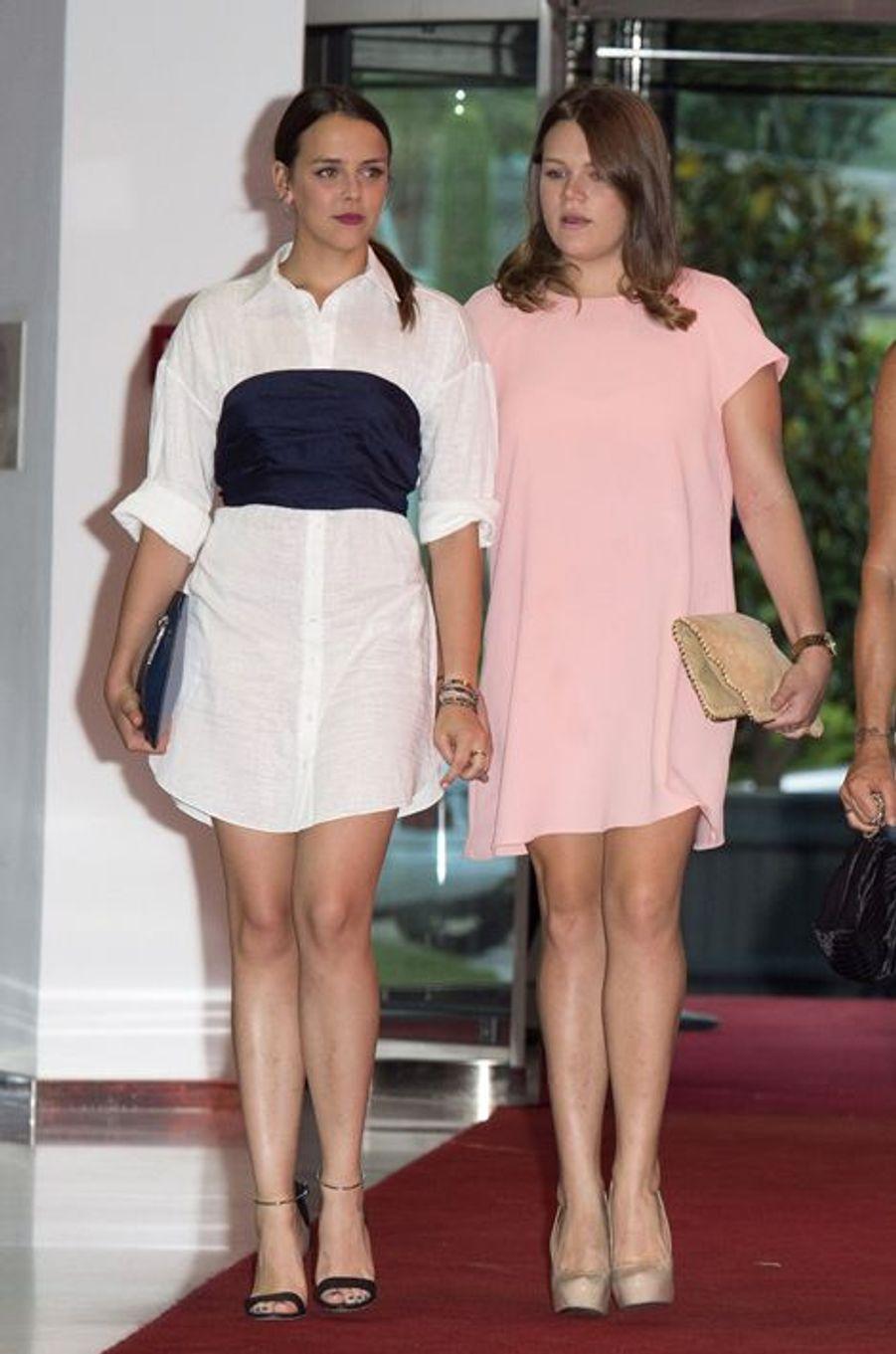 Pauline et Camille, les filles de la princesse Stéphanie de Monaco, au gala de la fondation Fight Aids