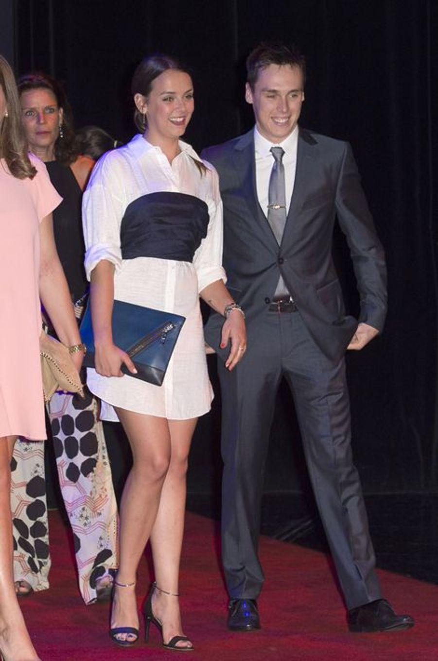 Pauline et Louis Ducruet, les enfants de la princesse Stéphanie de Monaco, au gala de la fondation Fight Aids