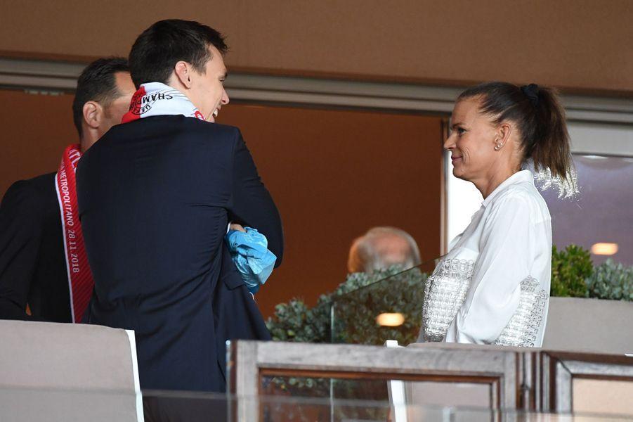 La princesse Stéphanie de Monaco et son fils Louis Ducruet à Monaco, le 18 septembre 2018