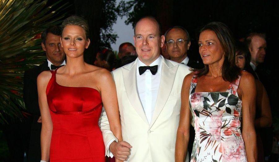 Albert de Monaco était magnifiquement accompagnée de la belle Charlene Wittstock.
