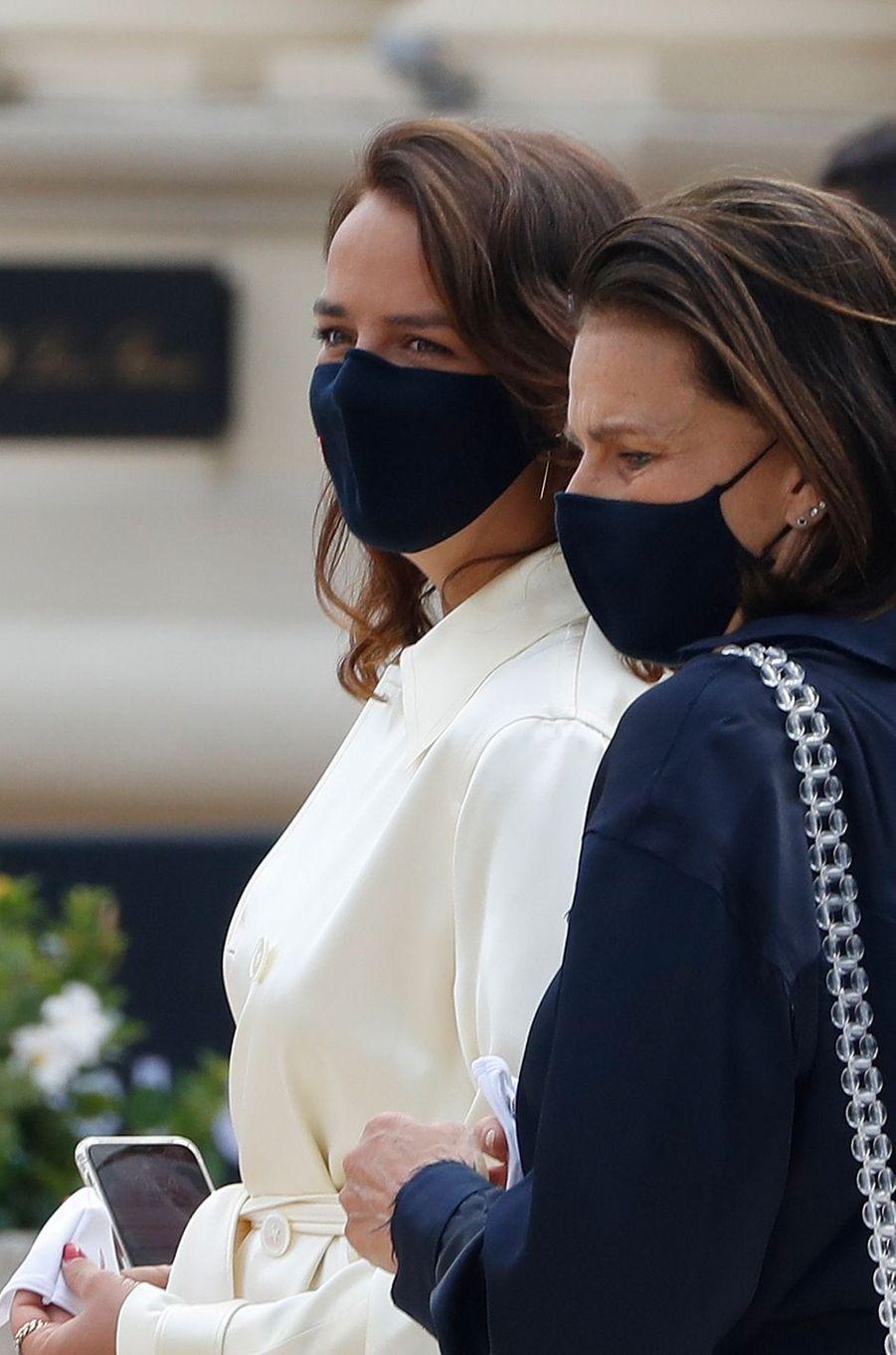 Pauline Ducruet et la princesse Stéphanie de Monaco à Monaco, le 2 juin 2020