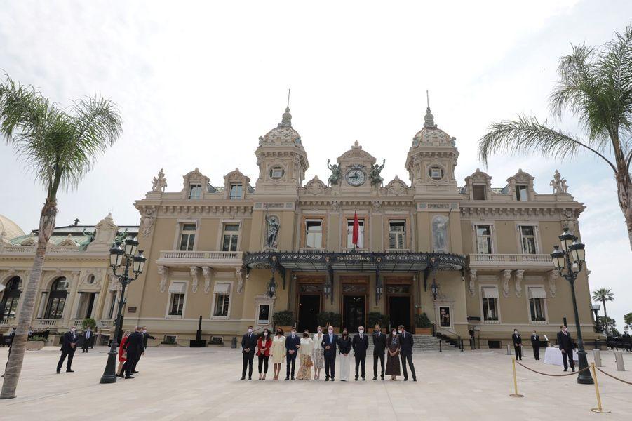 Le clan Grimaldi à Monaco, le 2 juin 2020