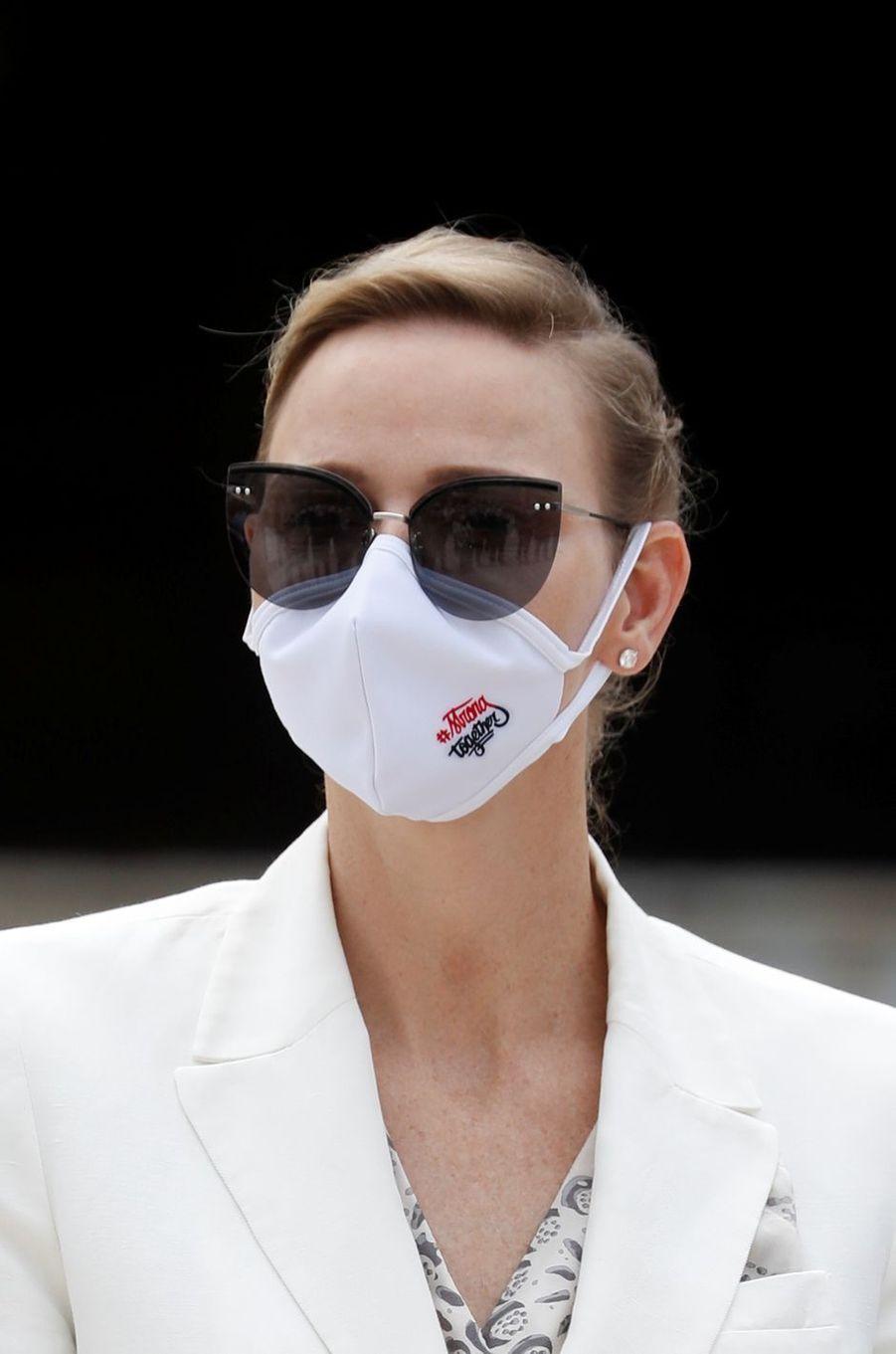 La princesse Charlène de Monaco à Monaco, le 2 juin 2020