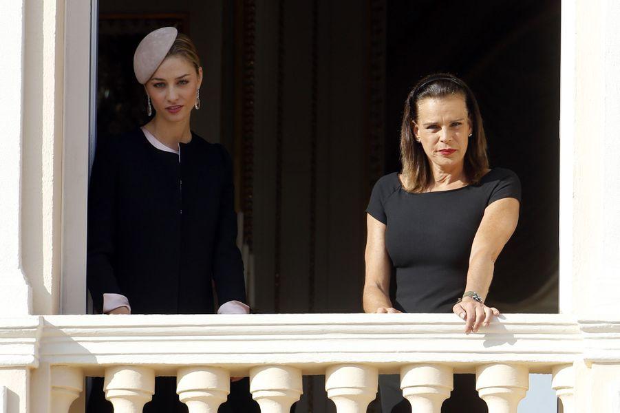 Beatrice Borromeo-Casiraghi et la princesse Stéphanie de Monaco à Monaco, le 19 novembre 2015