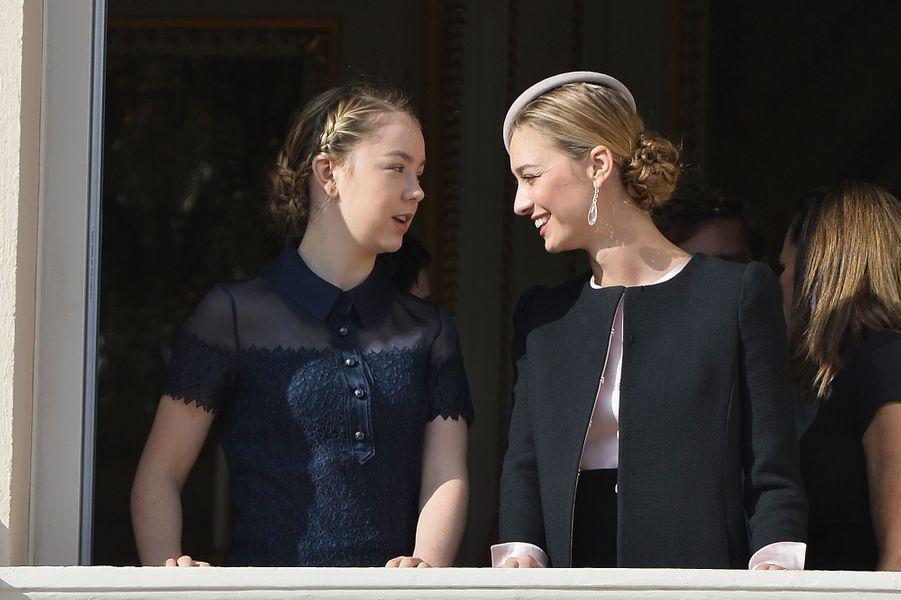 La princesse Alexandra de Hanovre et Beatrice Borromeo-Casiraghi à Monaco, le 19 novembre 2015