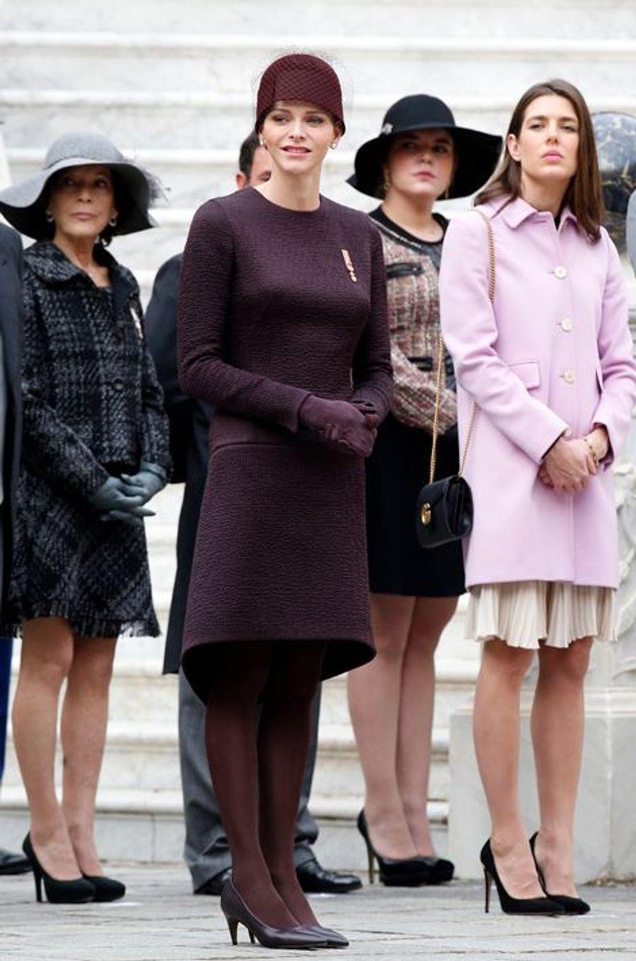 La princesse Charlène de Monaco et Charlotte Casiraghi à Monaco, le 19 novembre 2015
