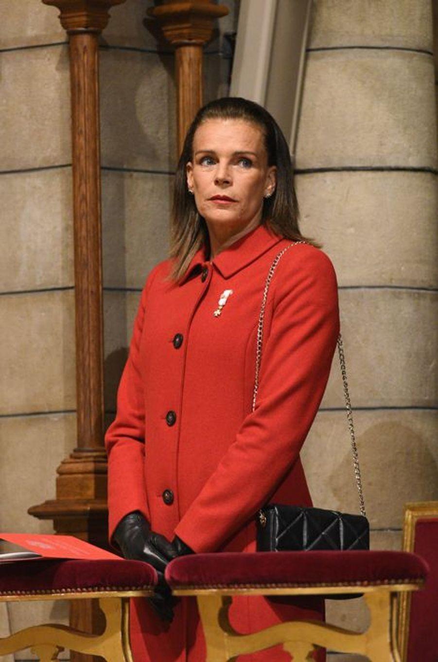 La princesse Stéphanie de Monaco à Monaco, le 19 novembre 2015