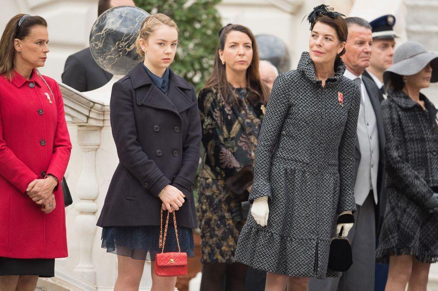 La princesse Stéphanie de Monaco et les princesses Alexandra et Caroline de Hanovre à Monaco, le 19 novembre 2015