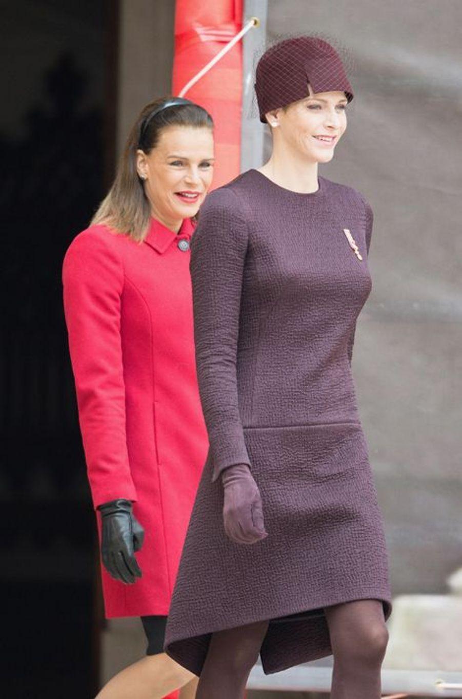 Les princesses Charlène et Stéphanie de Monaco à Monaco, le 19 novembre 2015