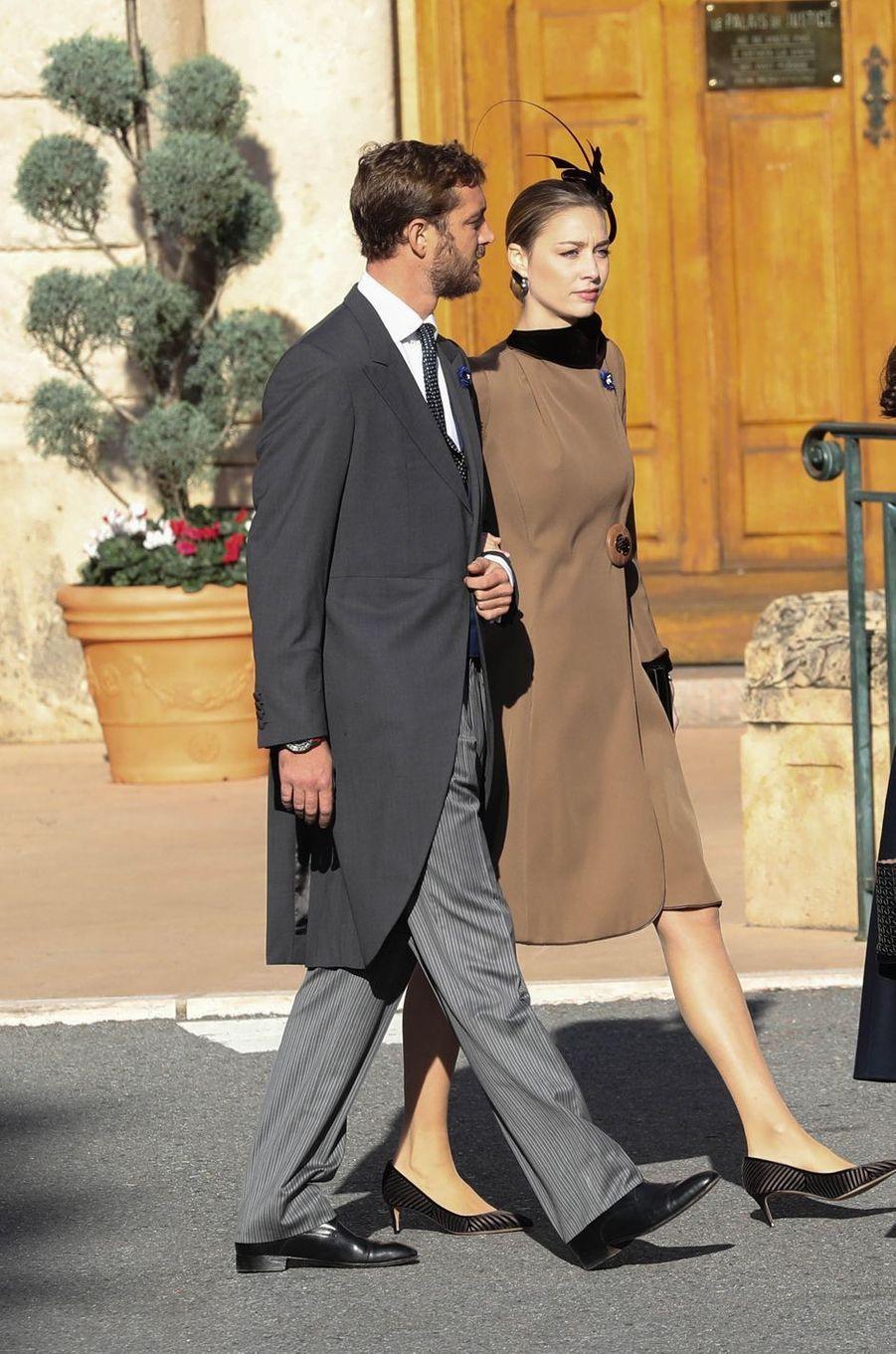 Pierre Casiraghi et sa femme Beatrice Borromeo à Monaco, le 19 novembre 2018