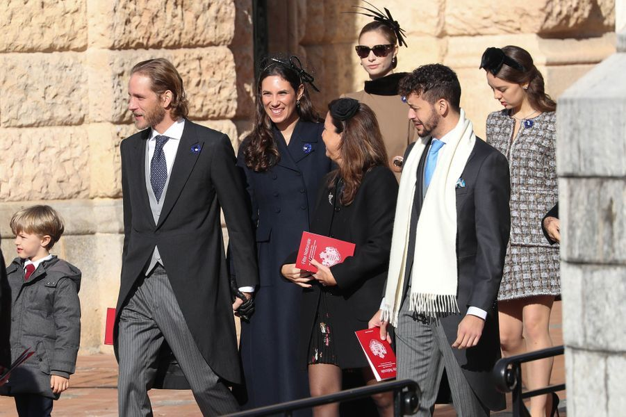 Andrea Casiraghi et sa femme Tatiana Santo Domingo, Beatrice Borromeo-Casiraghi et la princesse Alexandra de Hanovre à Monaco, le 19 novembre 2018