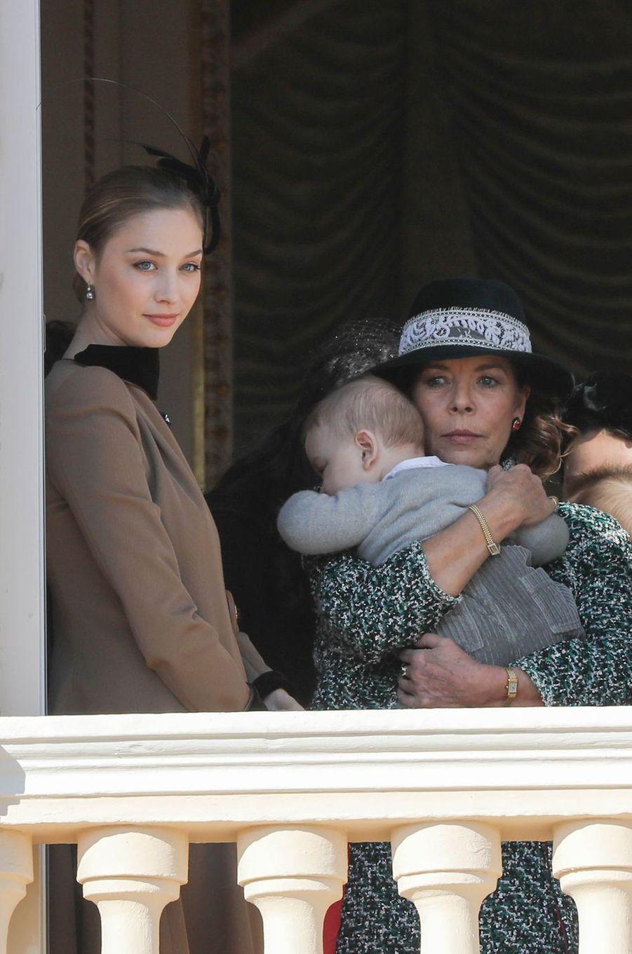 Beatrice Borromeo, la princesse Caroline de Hanovre et Francesco Casiraghi à Monaco, le 19 novembre 2018