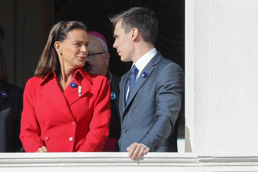 La princesse Stéphanie de Monaco et Louis Ducruet à Monaco, le 19 novembre 2018