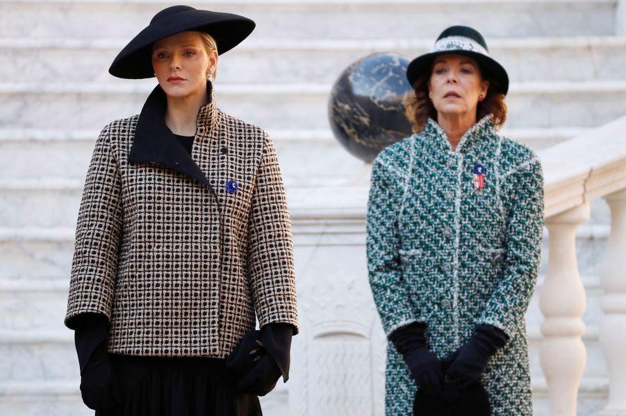 La princesse Charlène de Monaco et la princesse Caroline de Hanovre à Monaco, le 19 novembre 2018