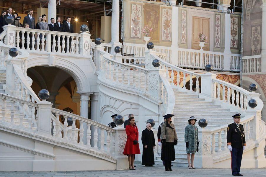 La famille Grimaldi à Monaco, le 19 novembre 2018