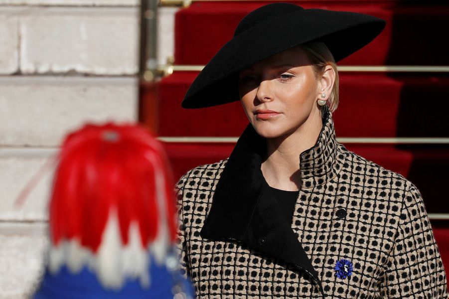La princesse Charlène de Monaco à Monaco, le 19 novembre 2018