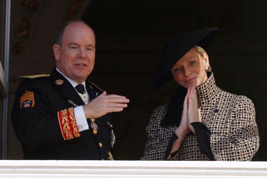La princesse Charlène et le prince Albert II de Monaco à Monaco, le 19 novembre 2018
