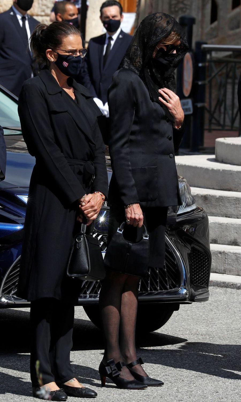 Les princesses Stéphanie de Monaco et Caroline de Hanovre à Monaco, le 17 juin 2020