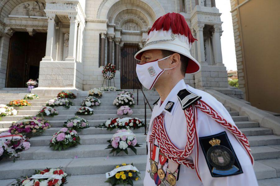 Obsèques de la baronne Elizabeth-Ann de Massy à Monaco, le 17 juin 2020