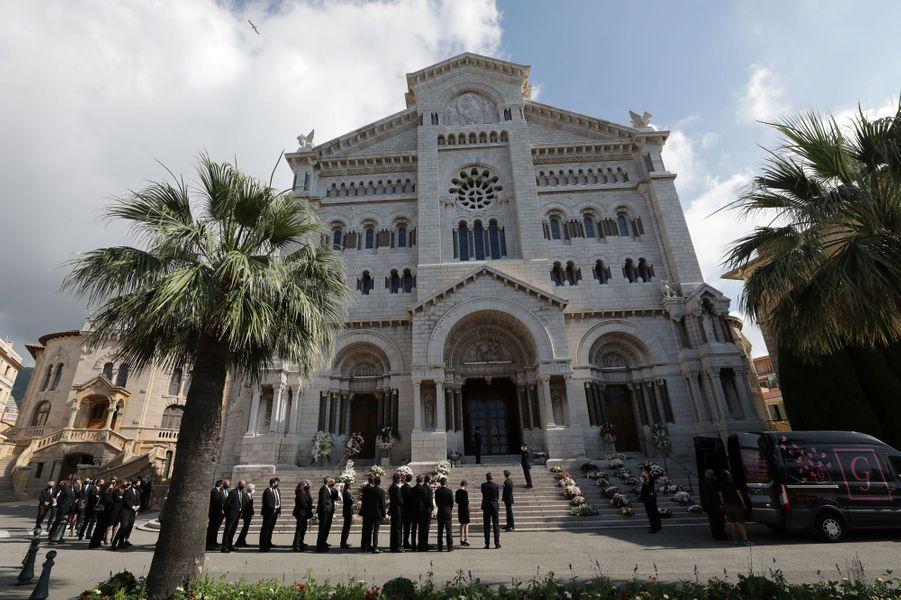 Les obsèques de la baronne Elizabeth-Ann de Massy à Monaco, le 17 juin 2020
