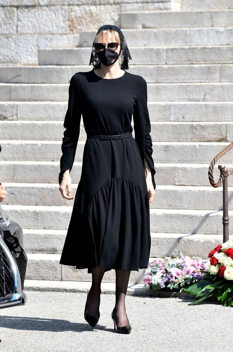 La princesse Charlène de Monaco à Monaco, le 17 juin 2020