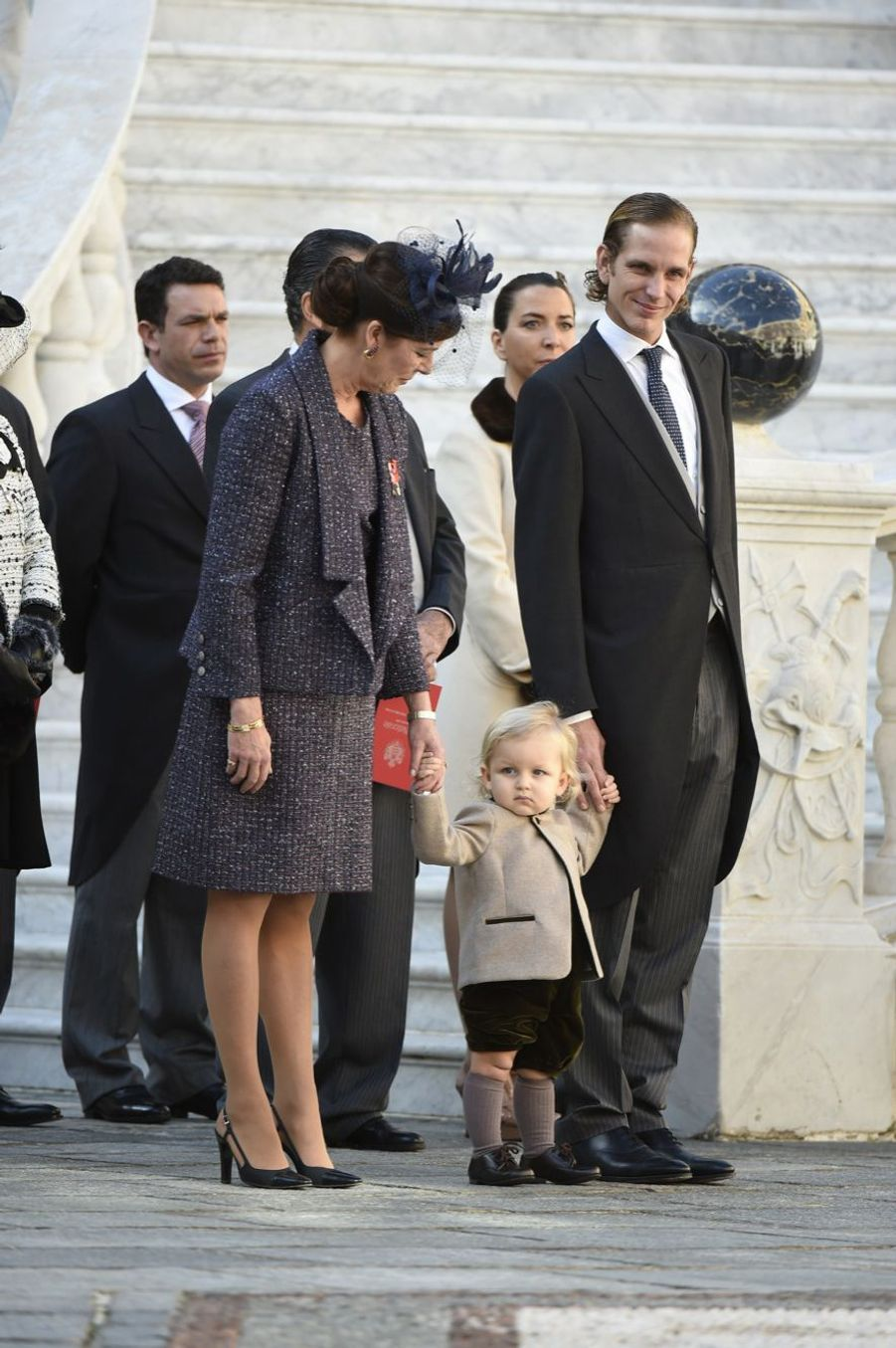 La première apparition de Sacha, le petit prince de Monaco