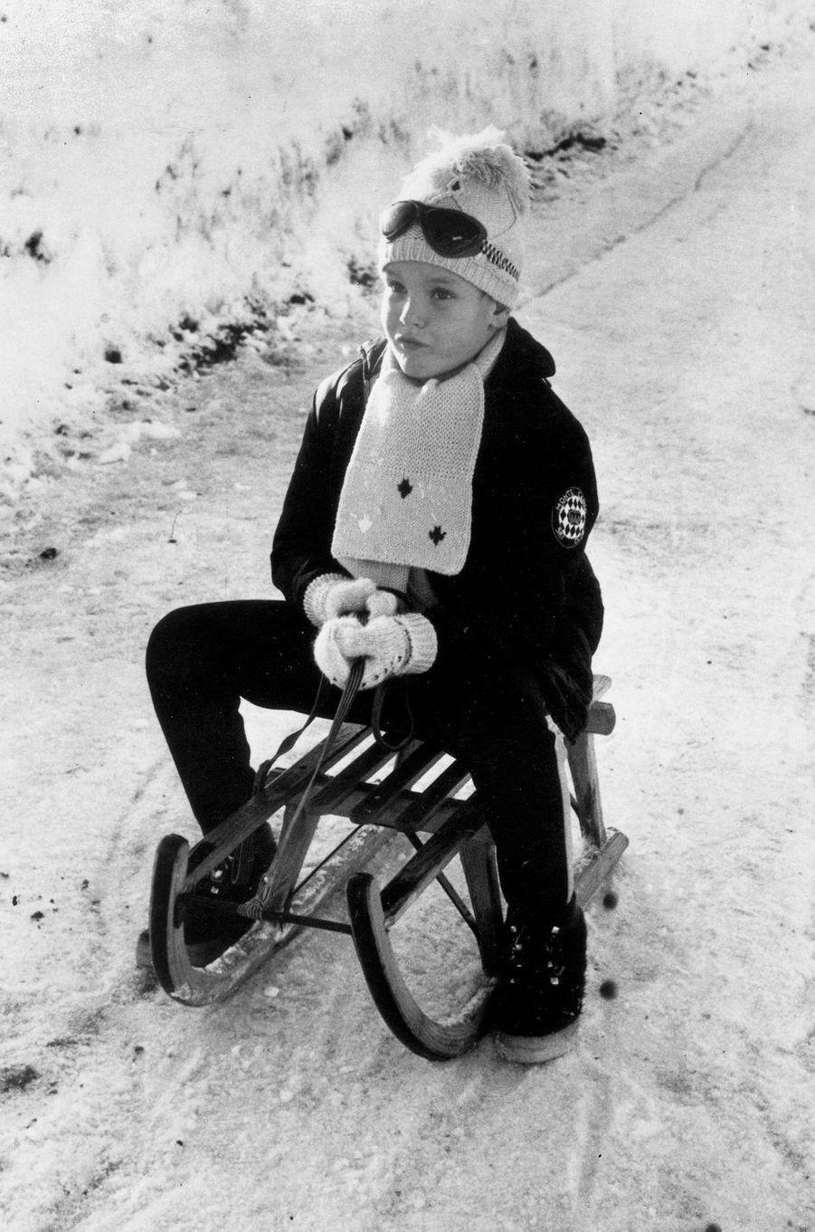Le prince Albert de Monaco, en 1965