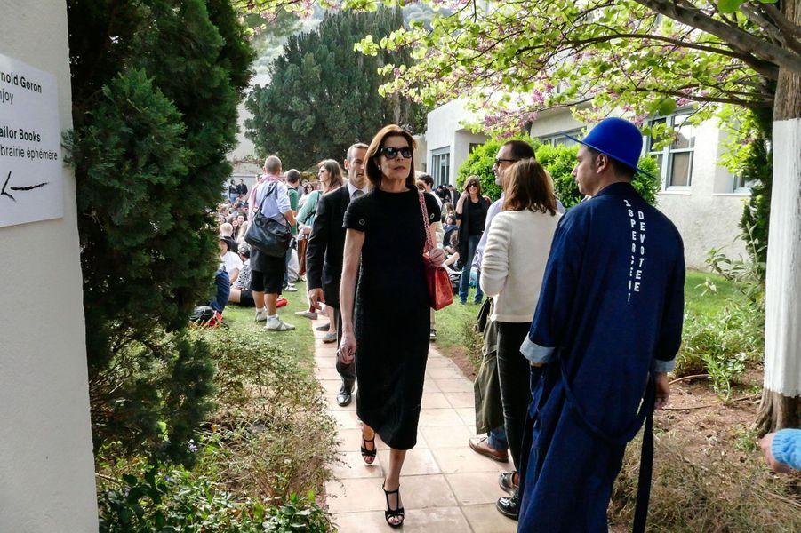 La princesse Caroline de Hanovre au 30e Festival de mode et de photographie de Hyères, le 24 avril 2015