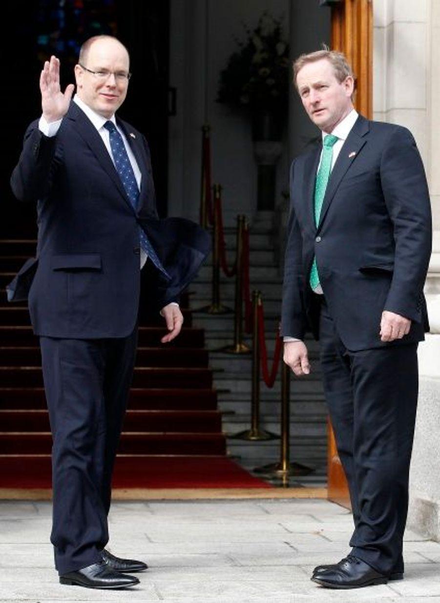 Avec le Premier ministre Irlandais Enda Kenny