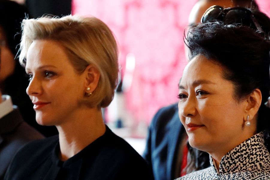 Charlène de Monaco et Peng Liyuan.