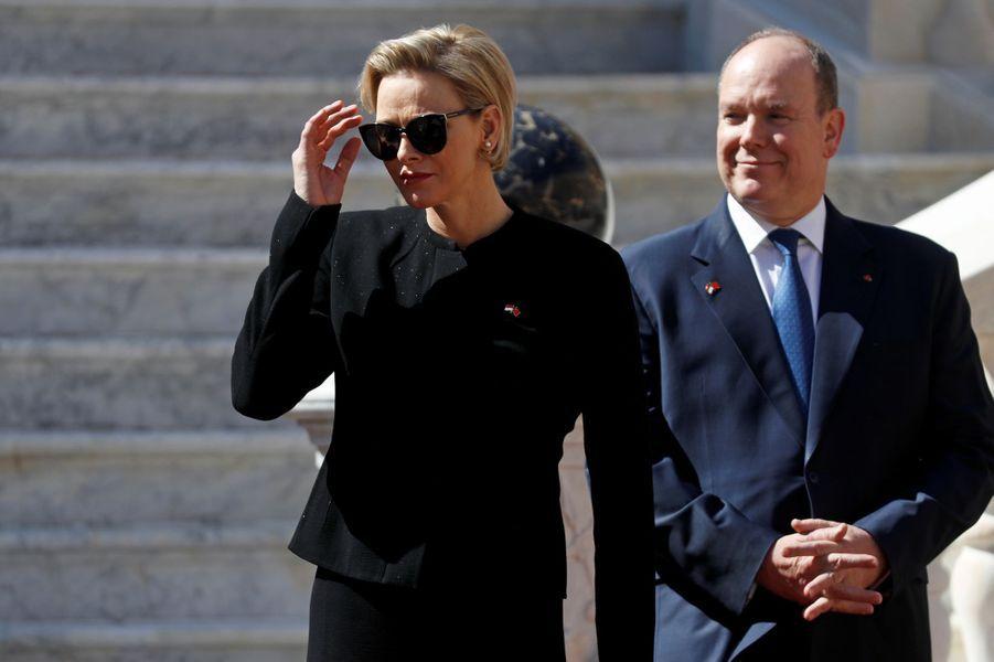 Charlène et Albert II de Monaco.
