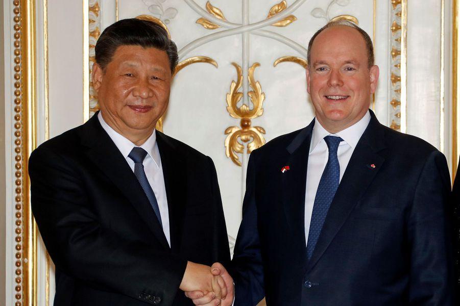Xi Jinping et Albert II de Monaco.