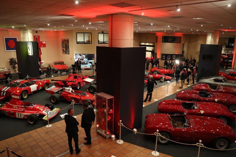 Exceptionnelle exposition de Ferrari à Monaco, le 3 décembre 2018