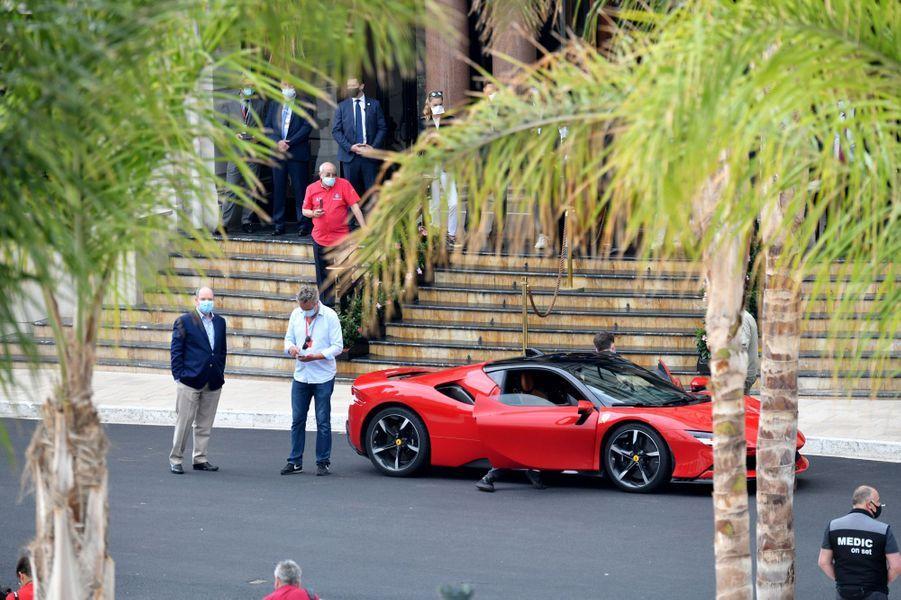 Le prince Albert II de Monaco à Monaco, le 24 mai 2020