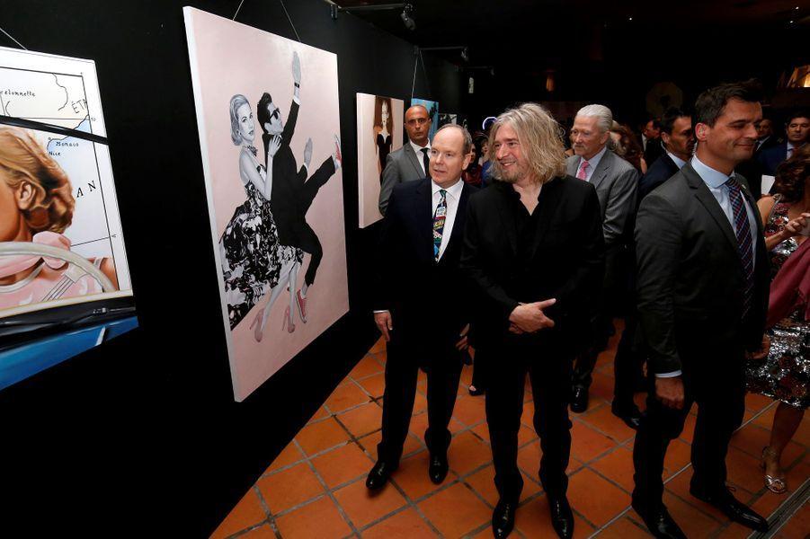 "Le prince Albert II de Monaco inaugure l'exposition ""Tribute to Grace Kelly"", à Monaco le 18 avril 2019"